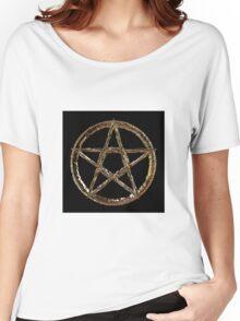 Golden Pentagram Women's Relaxed Fit T-Shirt