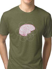 Human brain illustration. Cognitive science Tri-blend T-Shirt