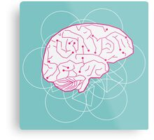 Human brain illustration. Cognitive science Metal Print
