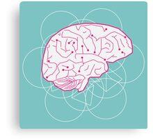 Human brain illustration. Cognitive science Canvas Print