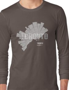 Toronto Map Long Sleeve T-Shirt