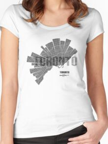 Toronto Map Women's Fitted Scoop T-Shirt