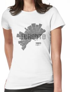 Toronto Map Womens Fitted T-Shirt