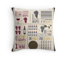 From Vine to Wine Throw Pillow