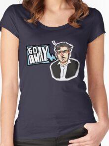 Go Away - CHARLIE BROOKER Women's Fitted Scoop T-Shirt