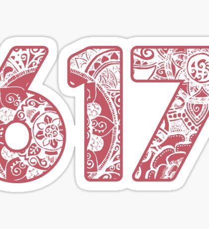 The 617 Area Code doodle Sticker