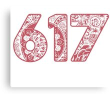 The 617 Area Code doodle Canvas Print