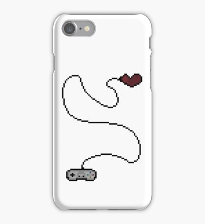 Playing My Last Life Pixel Art Illustration iPhone Case/Skin