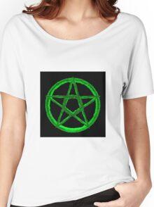 Green Pentagram Women's Relaxed Fit T-Shirt