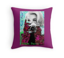 Marilyn And Nikon Throw Pillow