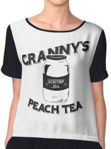 Granny's Peach Tea Batman v Superman Chiffon Top