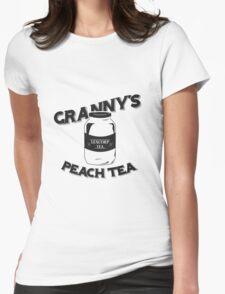 Granny's Peach Tea Batman v Superman Womens Fitted T-Shirt