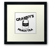 Granny's Peach Tea Batman v Superman Framed Print