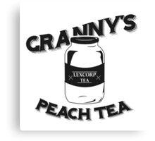 Granny's Peach Tea Batman v Superman Canvas Print