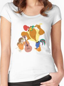 Rock-a-Doodle Women's Fitted Scoop T-Shirt