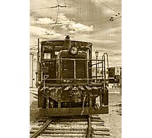 Vintage Army Train Photographic Print