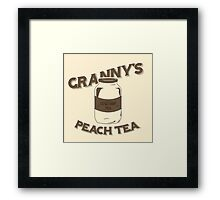 Granny's Peach Tea Brown Framed Print