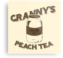 Granny's Peach Tea Brown Metal Print