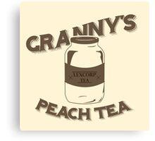 Granny's Peach Tea Brown Canvas Print