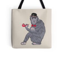 Hipster monkey with tobacco pipe Tote Bag