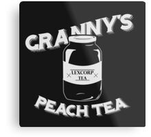 Granny's Peach Tea White Metal Print