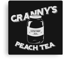 Granny's Peach Tea White Canvas Print