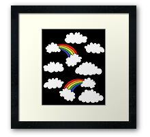 Rainbows retro style Framed Print