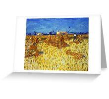 Vincent van Gogh Corn Harvest in Provence Greeting Card