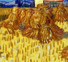 Vincent van Gogh Corn Harvest in Provence Sticker