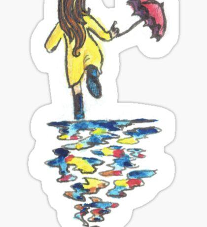 singing in the rain Sticker