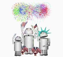 Robo-x9 and His Robot Family Celebrate 4th of July Unisex T-Shirt