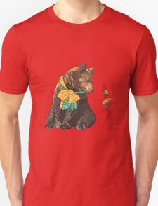 Cartoon hipster bear  Unisex T-Shirt