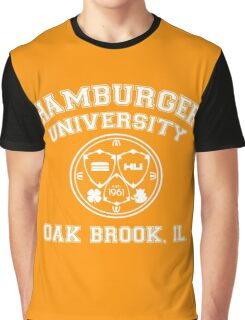 Hamburger University in White Graphic T-Shirt