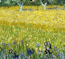 Vincent van Gogh Field of Flowers near Arles Sticker