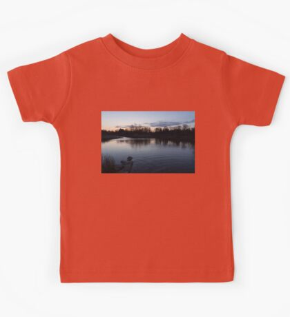 Cool Blue Ripples - Lake Shore Eventide Kids Tee