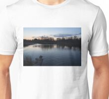 Cool Blue Ripples - Lake Shore Eventide Unisex T-Shirt