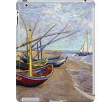 Vincent van Gogh Fishing Boats on the Beach at Saintes-Maries iPad Case/Skin