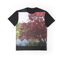 Spring japanese maple tree by a pond. Graphic T-Shirt