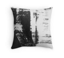 graffiti - black and white Throw Pillow