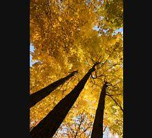 Golden Canopy - Three Trees Vertical Unisex T-Shirt