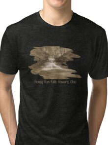 Honey Run Falls Howard, Ohio Tri-blend T-Shirt