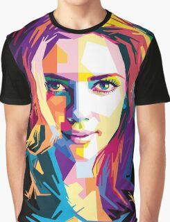 Scarlet Johansson | PolygonART Graphic T-Shirt