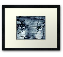 Me Or Your Own Eyes? Framed Print