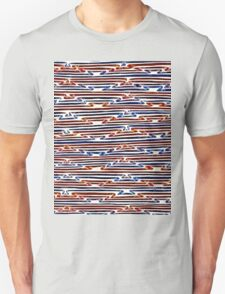 Abstract Line Art Energetic Pattern T-Shirt
