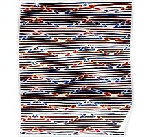Abstract Line Art Energetic Pattern Poster