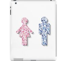 Different hobby man amd woman iPad Case/Skin