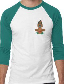 Hawaiian Hula Girl Skater Men's Baseball ¾ T-Shirt