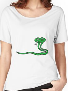 angry dangerous comic cartoon snake Women's Relaxed Fit T-Shirt