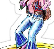 Peace Hippie Girl Sticker