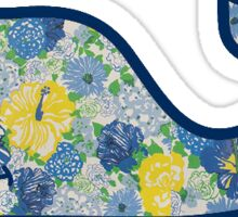Vineyard Vines Yellow and Blue Flowers Sticker